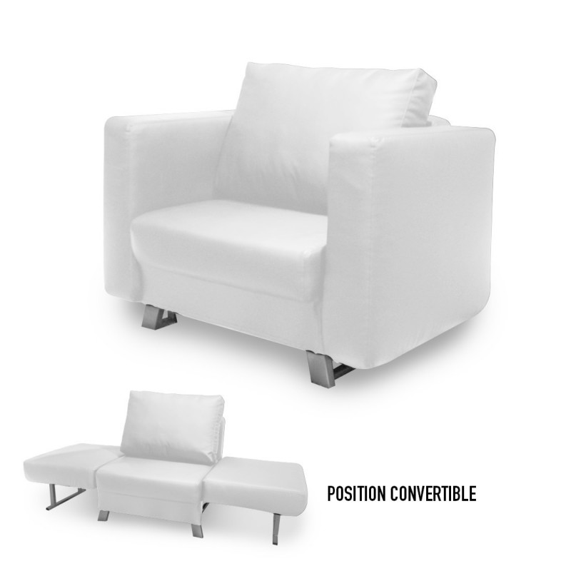 convertible 1 place solo en simili cuir. Black Bedroom Furniture Sets. Home Design Ideas