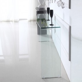 Consolle di design in vetro ALINE