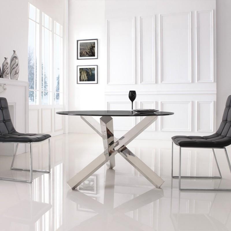 Meubler Design Table à manger ronde design Krypto pas
