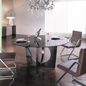 Mesa de comedor redonda de cristal Madisson