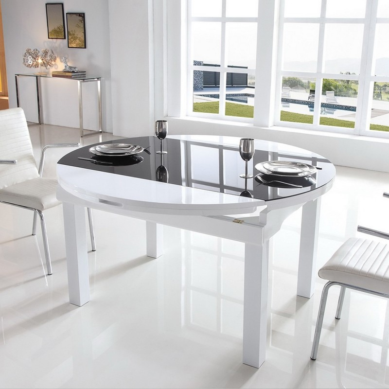 Table ronde salle manger fashion designs for Table salle manger ronde extensible design