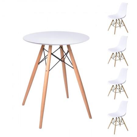 Table ronde scandinave noir - Table scandinave blanc ...