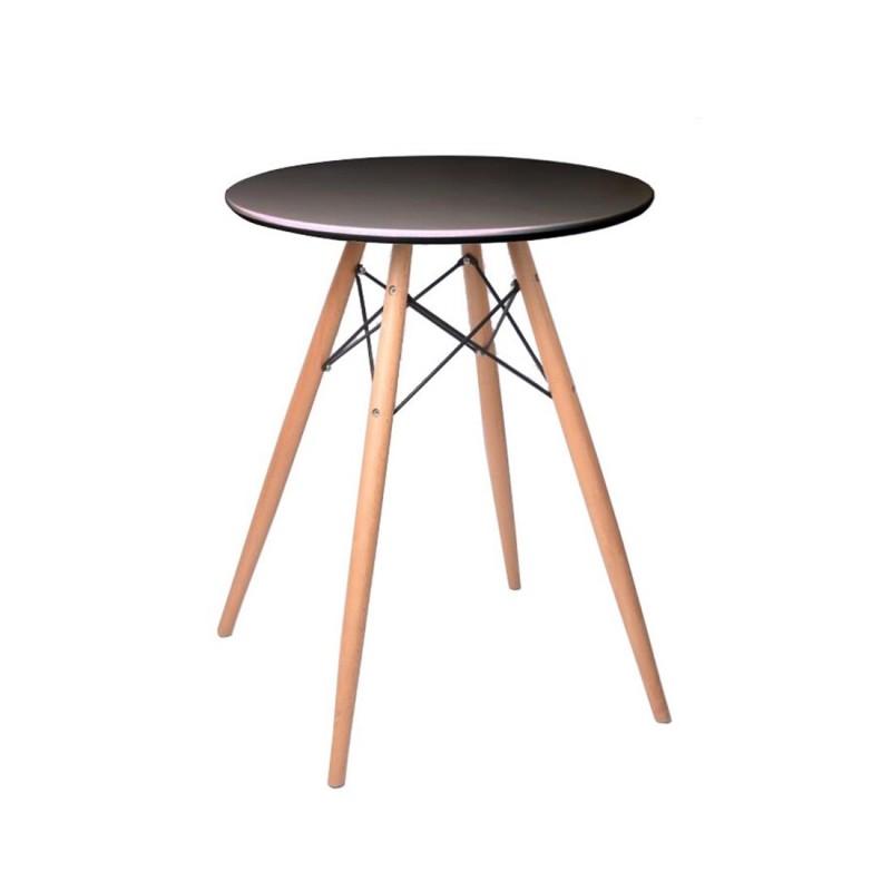 table ronde scandinave noir. Black Bedroom Furniture Sets. Home Design Ideas