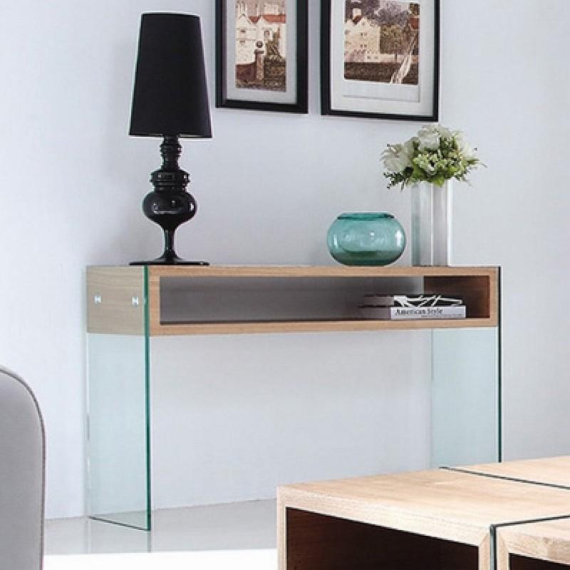 console en verre design woodi. Black Bedroom Furniture Sets. Home Design Ideas