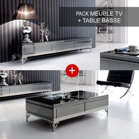 Elegante stand TV e set di tavolini da caffè