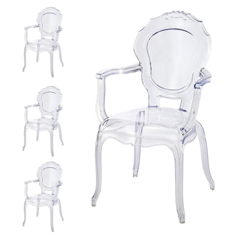 lot de 4 fauteuils polycarbonate. Black Bedroom Furniture Sets. Home Design Ideas