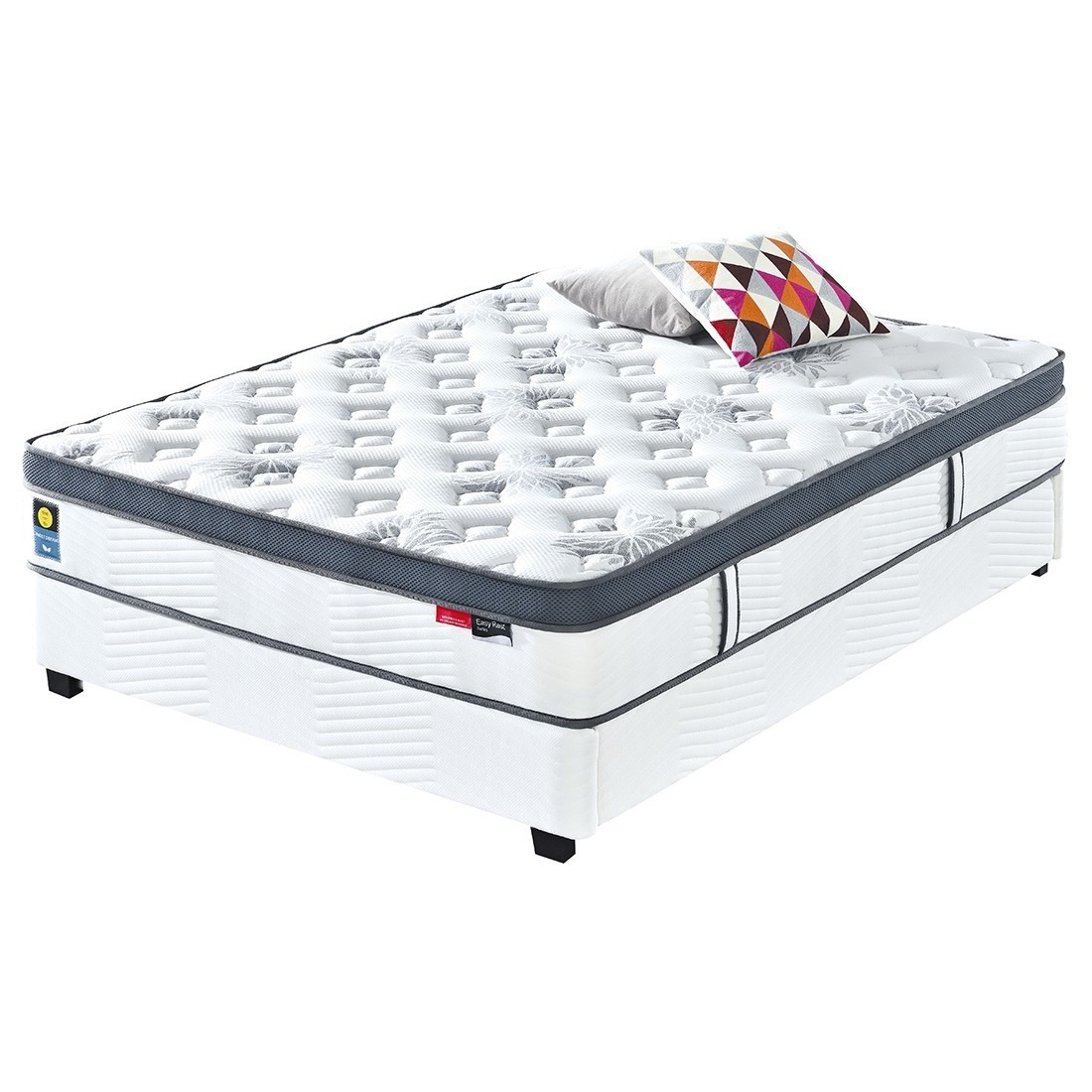 lit led julia blanc 160cm avec matelas star en latex. Black Bedroom Furniture Sets. Home Design Ideas