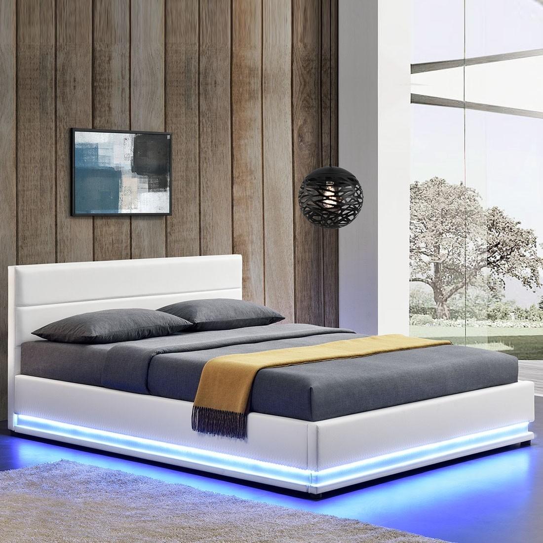 Lit Avec Rangement En Dessous lit ava avec coffre de rangement et led intégré - meublerdesign