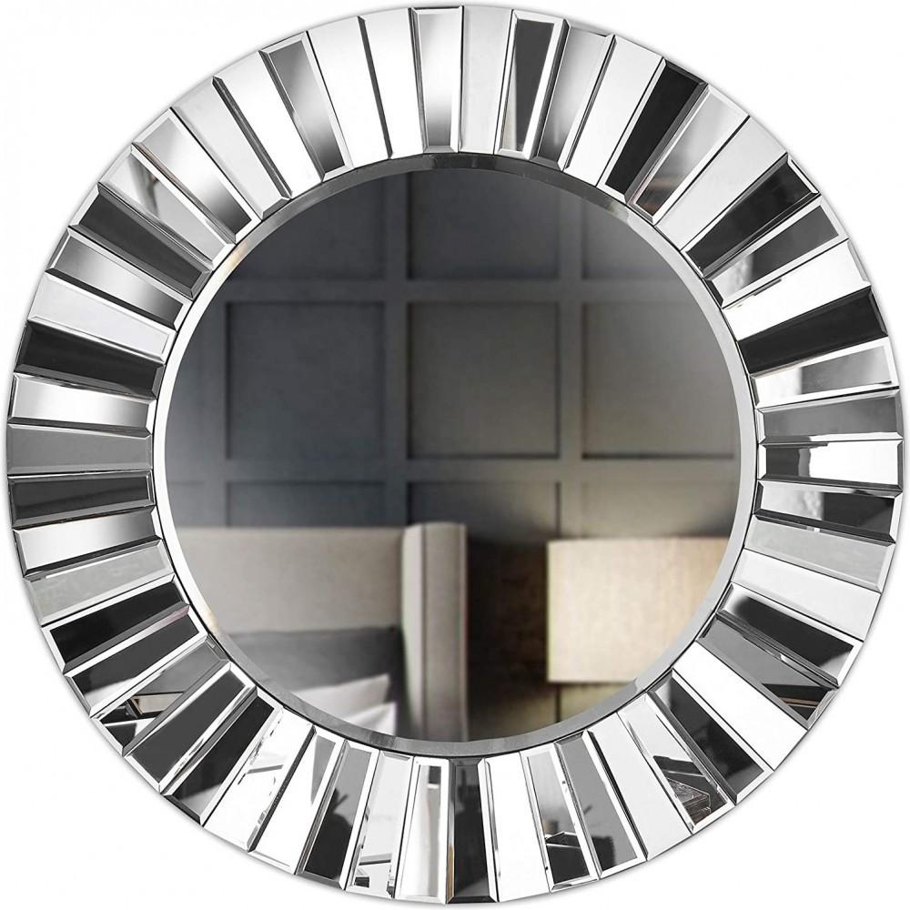 Miroir mural rond miroir 3D, salon, couloir