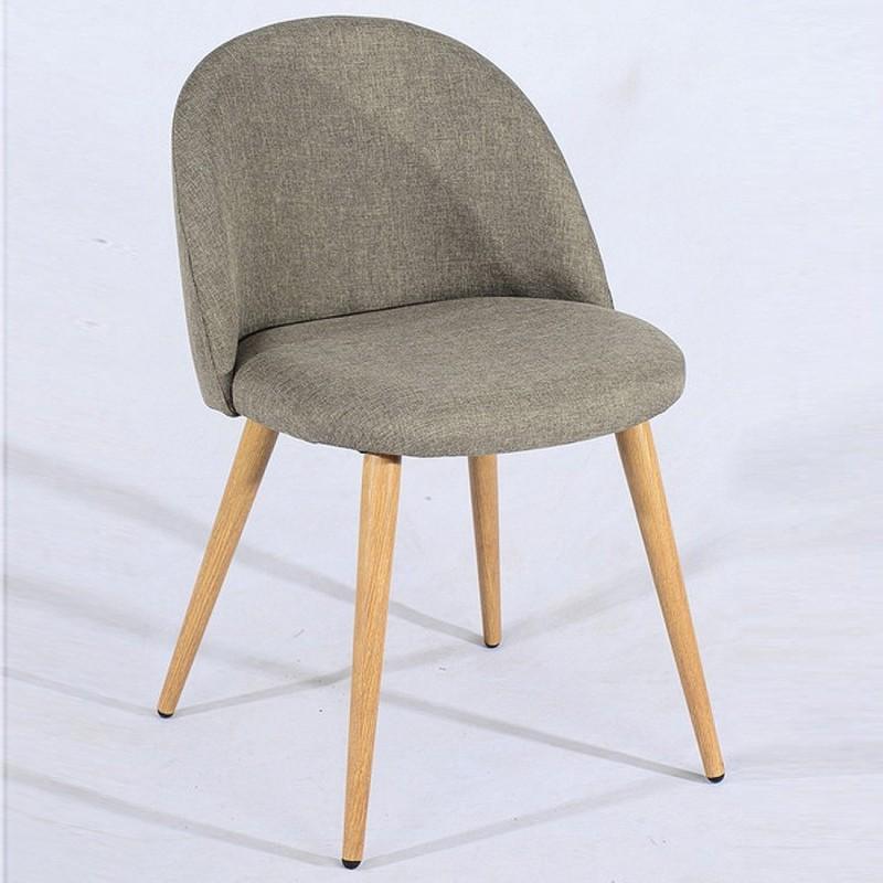 lot de 2 chaise scandinave tissu zomba. Black Bedroom Furniture Sets. Home Design Ideas