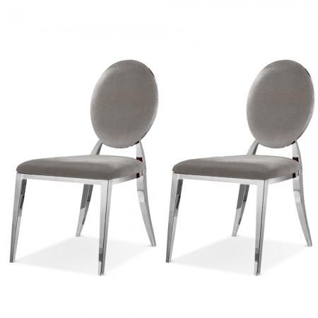 2er-Set Medaillon-Stühle Stahlbein ERA