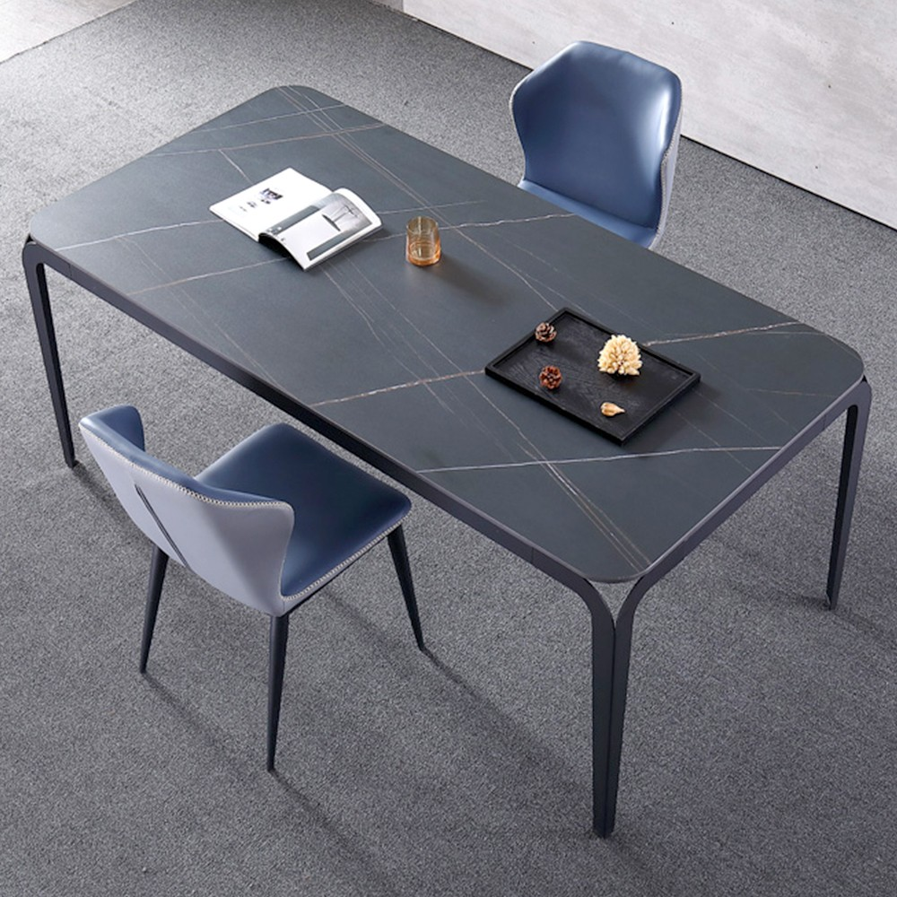 Mesa de comedor Bexter de cerámica efecto mármol