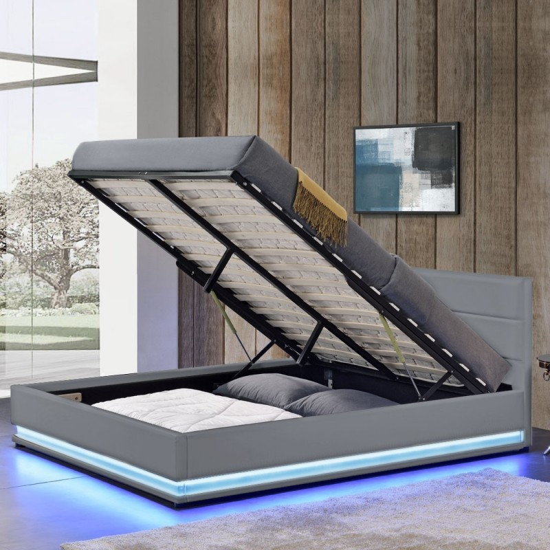 lit ava avec matelas 140 ressorts ensach s meublerdesign. Black Bedroom Furniture Sets. Home Design Ideas