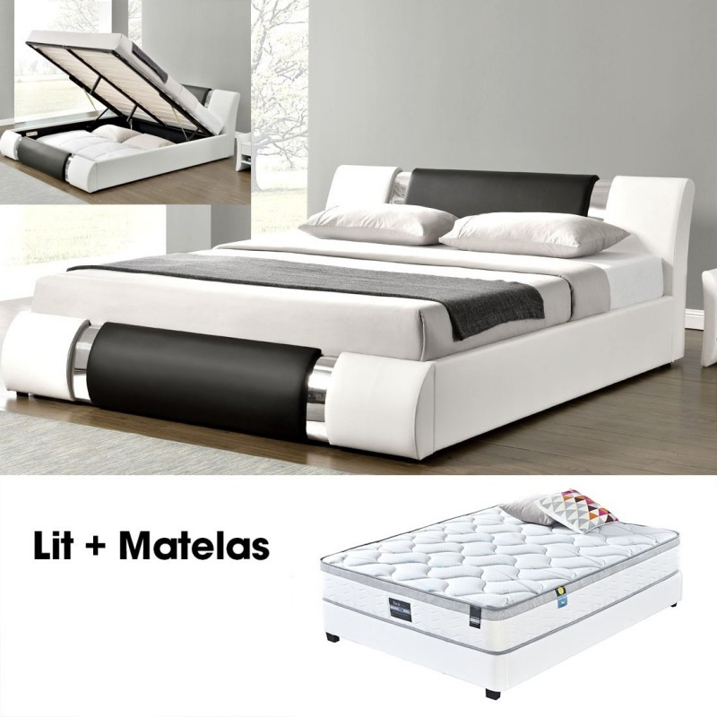 matelas plus sommier 140 atlantic. Black Bedroom Furniture Sets. Home Design Ideas