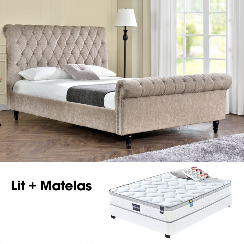 matelas plus sommier 140 kapaldi. Black Bedroom Furniture Sets. Home Design Ideas