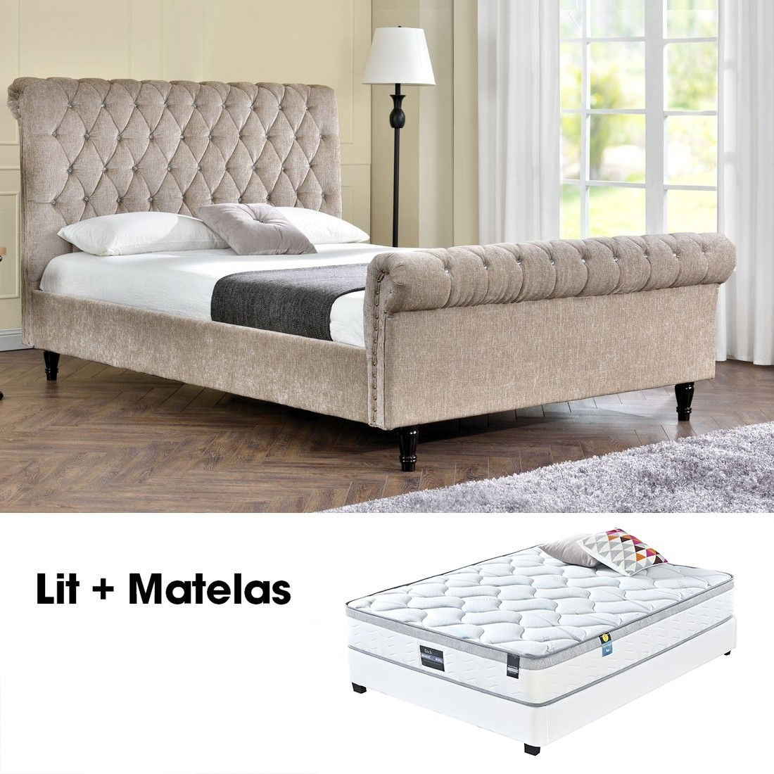 lit matelas sommier 28 images lit sur 233 lev 233. Black Bedroom Furniture Sets. Home Design Ideas