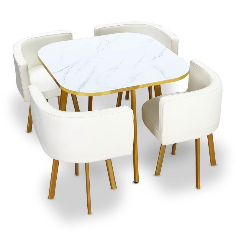 Table à manger et chaises encastrable PopUp