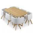 Ensemble table à manger + 6 chaises encastrable PopUp XL