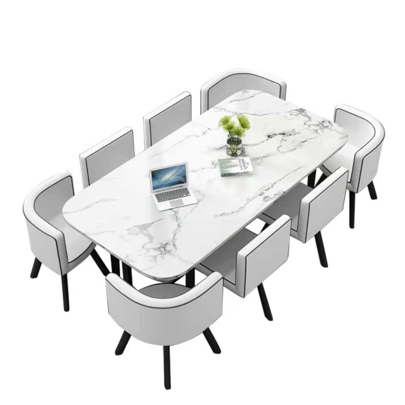 Ensemble table à manger + 8 chaises encastrable PopUp XXL