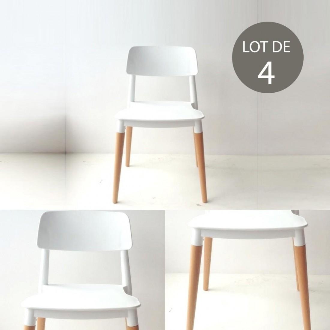 lot de 4 chaises design bourget. Black Bedroom Furniture Sets. Home Design Ideas