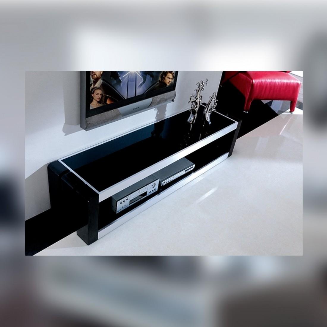 Meuble Tv Design Marley Laqu Noir # Meuble Tv En Noir