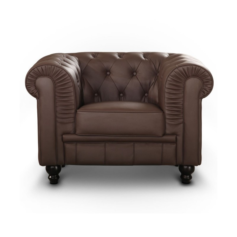 fauteuil 1 place design chesterfield. Black Bedroom Furniture Sets. Home Design Ideas