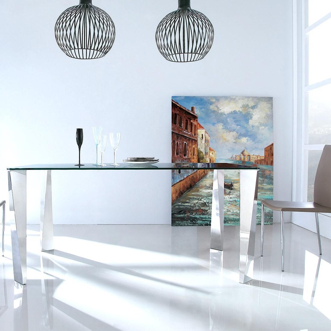 table manger en verre design epine. Black Bedroom Furniture Sets. Home Design Ideas