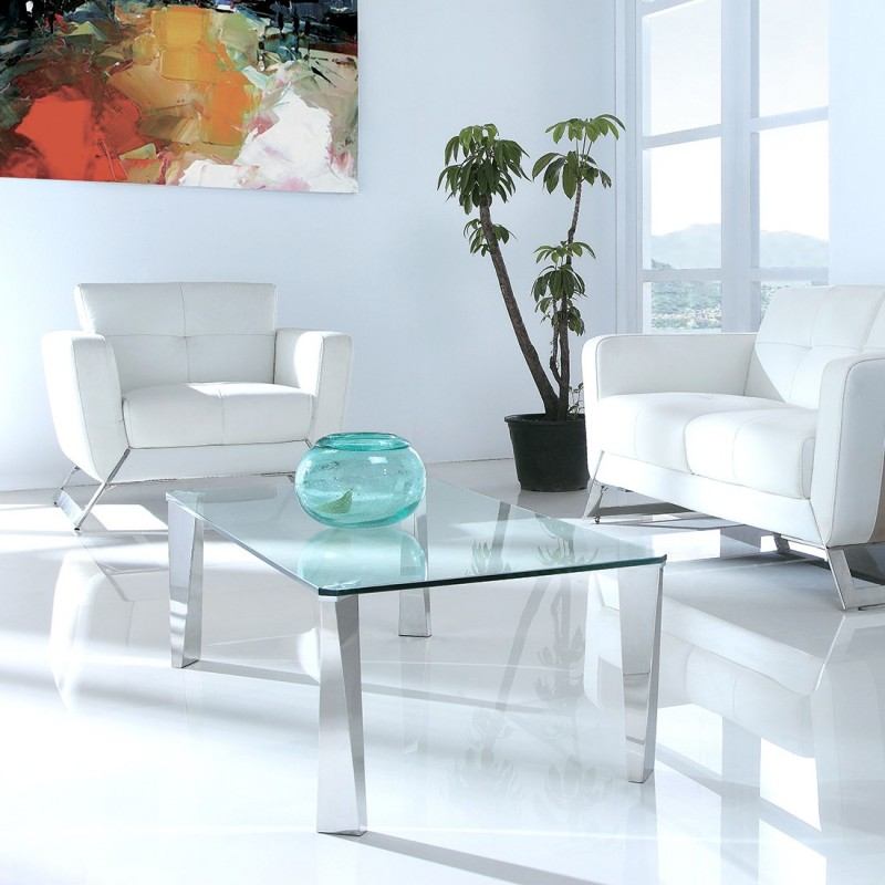 Table basse design verre epine - Table basse verre design ...