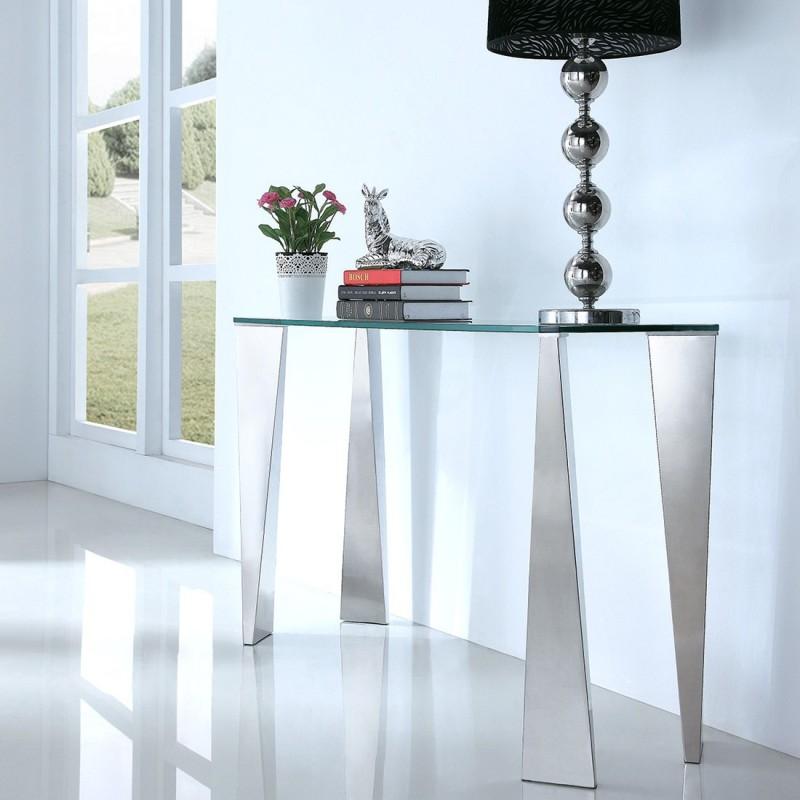 console design en verre epine. Black Bedroom Furniture Sets. Home Design Ideas
