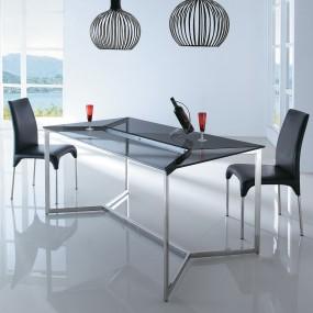 Table à manger en verre design BRUCE