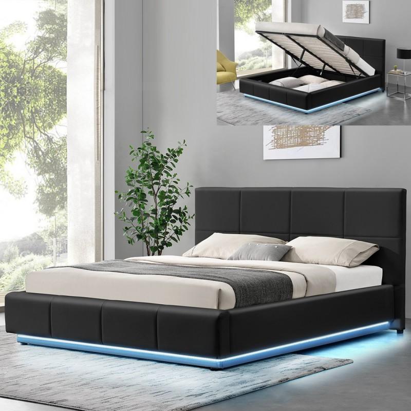 Lit sommier avec coffre de rangement design mao for Deco chambre enfant avec sommier et matelas memoire de forme 160x200