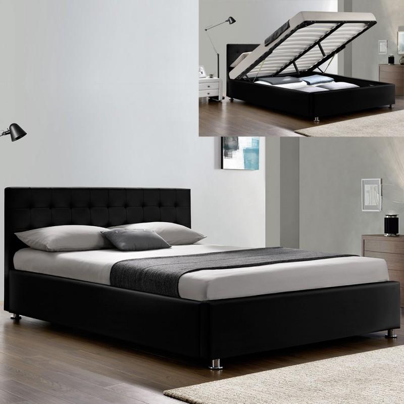 lit complet sommier relevable t te de lit cadre de lit. Black Bedroom Furniture Sets. Home Design Ideas