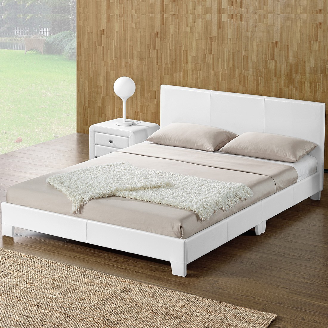 lit complet matelas et sommier simpli. Black Bedroom Furniture Sets. Home Design Ideas