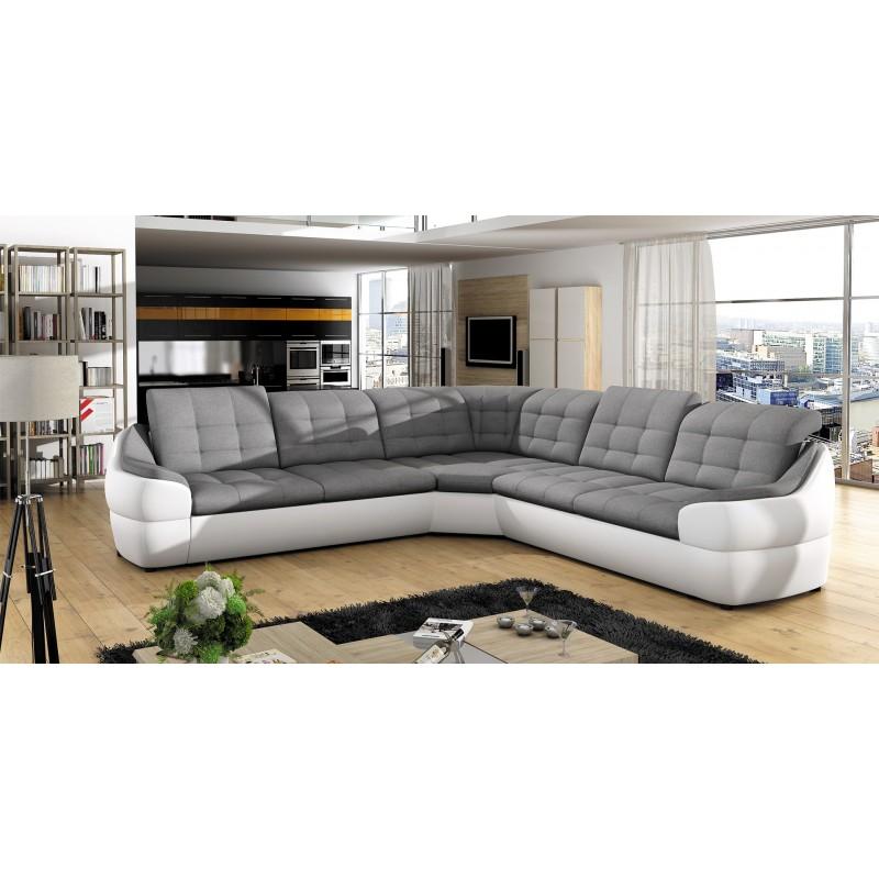 Canapé grand angle LUKA GRIS