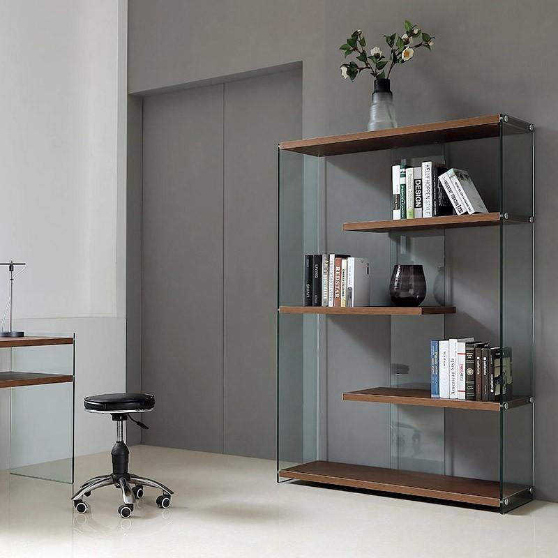 meuble etag res en verre bois. Black Bedroom Furniture Sets. Home Design Ideas