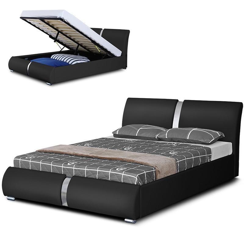 Lit design pacific avec rangement int gr meublerdesign - Coffre chambre ...