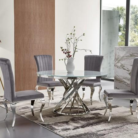 Mesa de comedor de diseño redondo Krypto