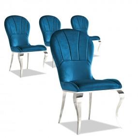Juego de 4 sillas de terciopelo Gatsby