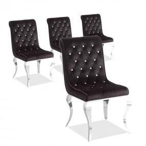 Lot de 4 chaises de très belle qualité CROSI