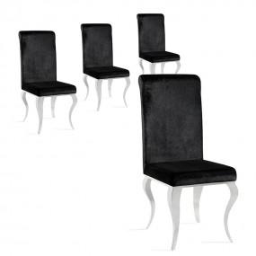 Lot de 4 chaises haut de gamme EMA
