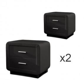 Comodino di design ZEST Set di 2 nero