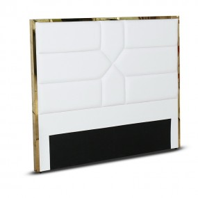 Tête de lit design effet laiton Dalia