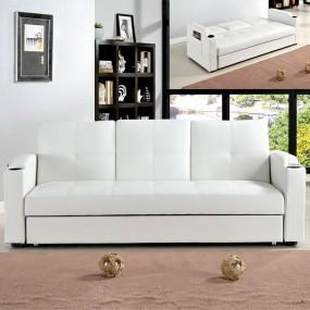 Sofá cama de 3 plazas con mesa central plegable Corabar