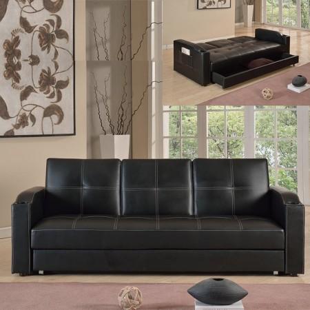 3-Sitzer-Schlafsofa mit klappbarer Mittelablage Corabar-Box