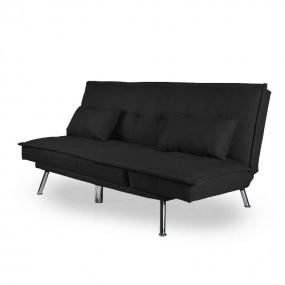 Doppelschlafsofa 2-3 Sitzer mit verstellbarer Rückenlehne und Kissen ZEBRA