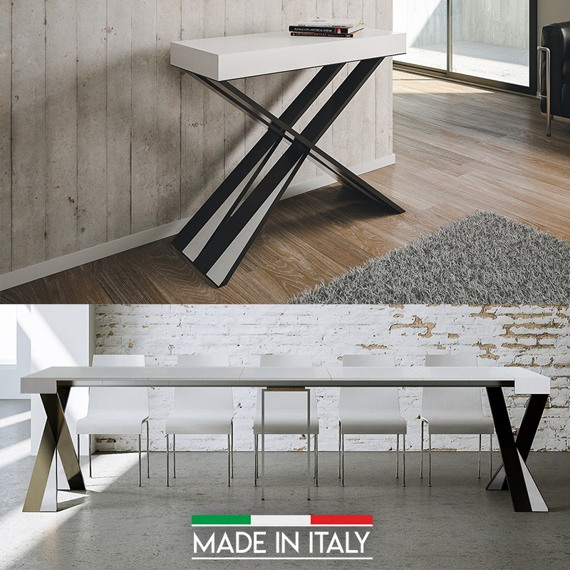 Table Console Extensible 1 A 15 Places Made In Italy