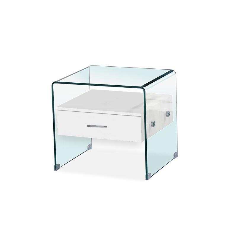 Table de chevet en verre ELSA