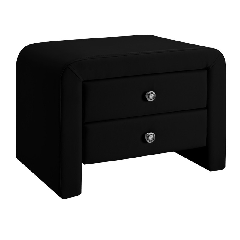 Lit design julia 140 avec 2 tables eva noir meublerdesign - Table de chevet cdiscount ...