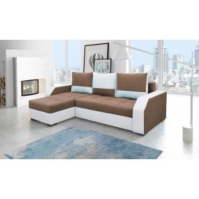 Canapé d'angle convertible réversible design Aris