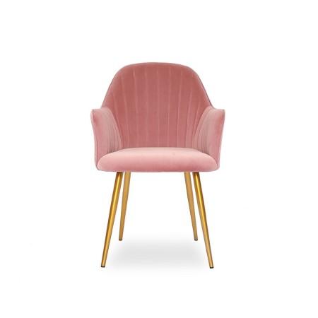 Chaise de salle à manger velours pied or Skull